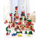 Set de blocuri din lemn Little Amsterdam 166 piese