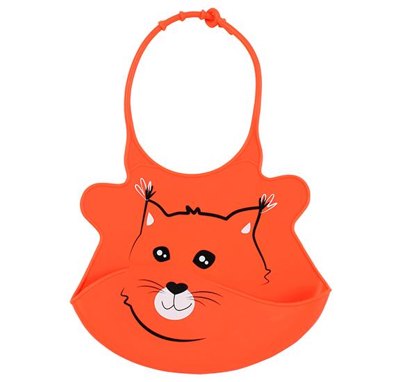 Baveta din silicon Baby Ono Super-soft Orange