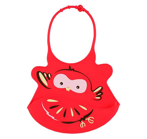 Baveta din silicon Baby Ono Super-soft Red