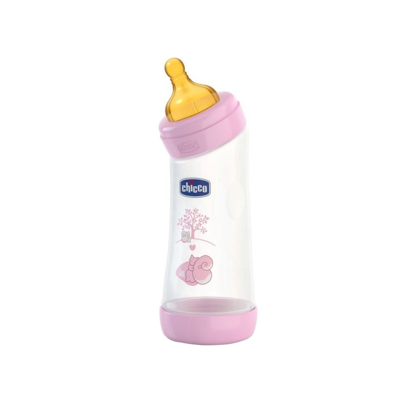 Biberon Chicco WellBeing PP in unghi girl 250ml t.c. flux normal 0+luni 0BPA