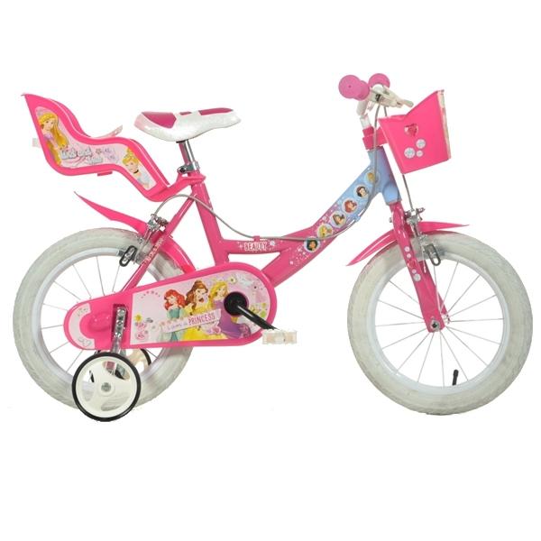 Bicicleta pentru fetite Disney Princess 14 inch Dino Bikes