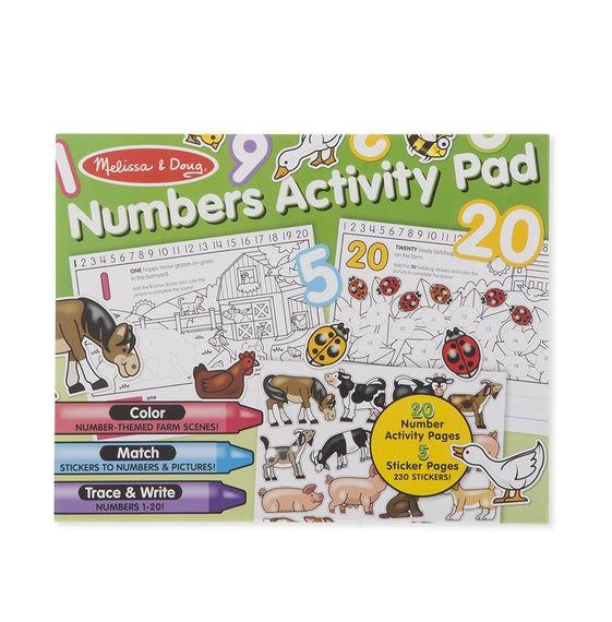 Bloc cu activitati Numerele (in engleza) Melissa and Doug