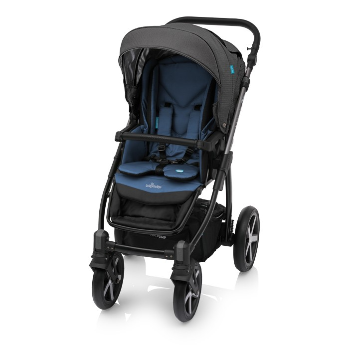 Carucior 2 in 1 Baby Design Husky Winter Pack 03 Jeans Blue 2018