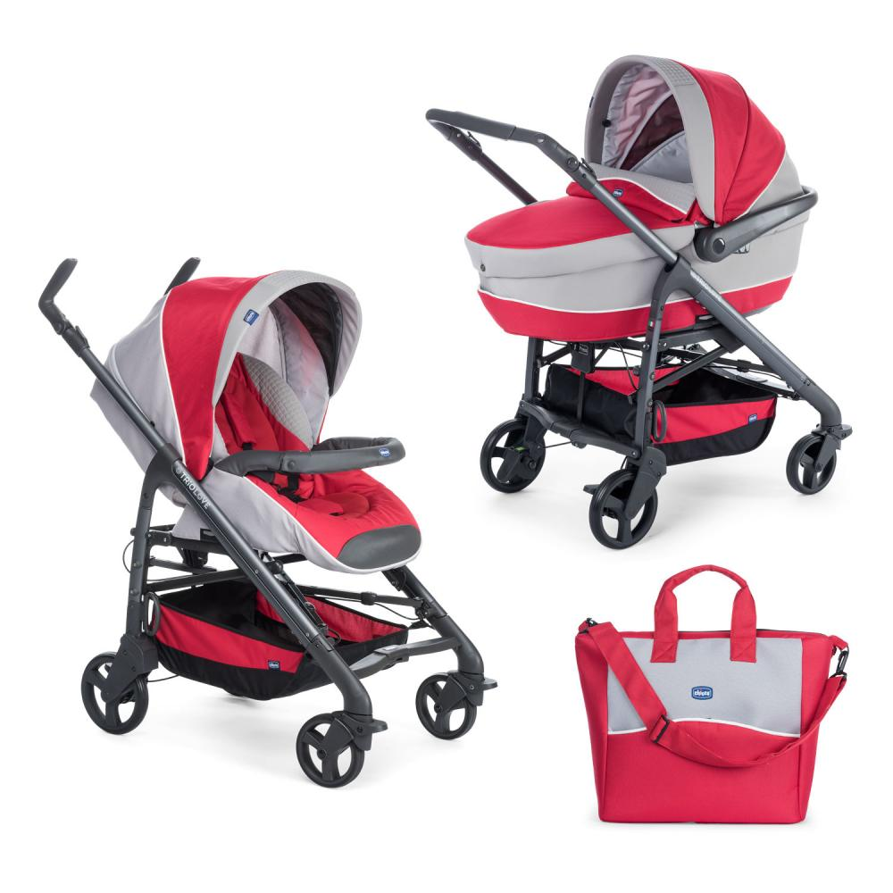 Carucior 2 in 1 Chicco Duo Love Motion Red Passion 0luni+