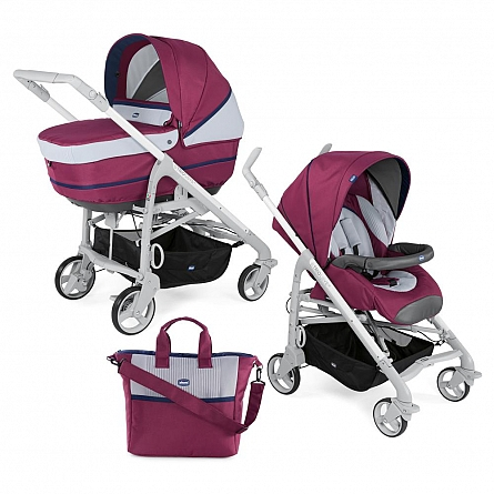 Carucior 2 in 1 Chicco Duo Love UP carucior si landou Red Plum 0luni+