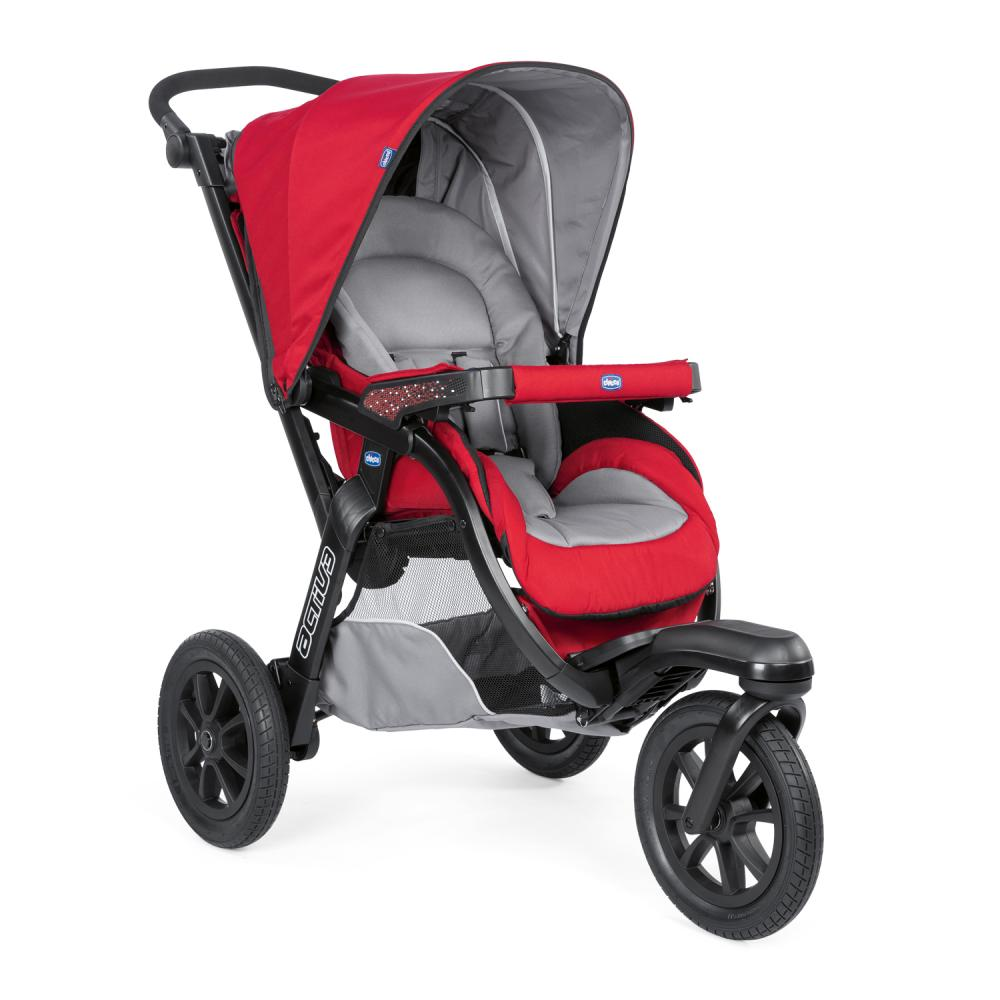 Carucior Chicco Trio Activ3 Car Kit 0+luni Red Berry