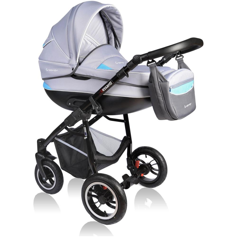 Carucior Crooner 3 in 1 Vessanti BlueGray