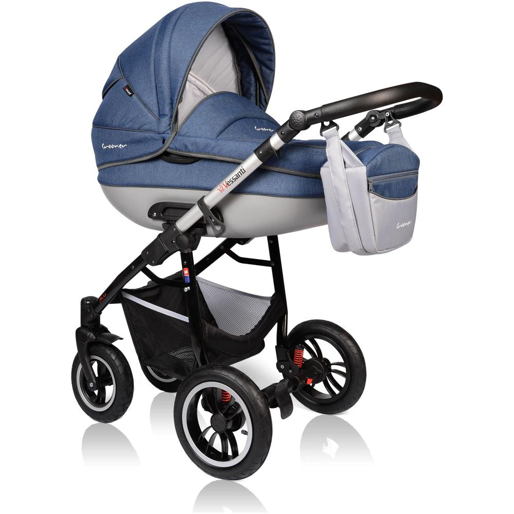 Carucior Crooner Prestige 3 in 1 Vessanti Blue
