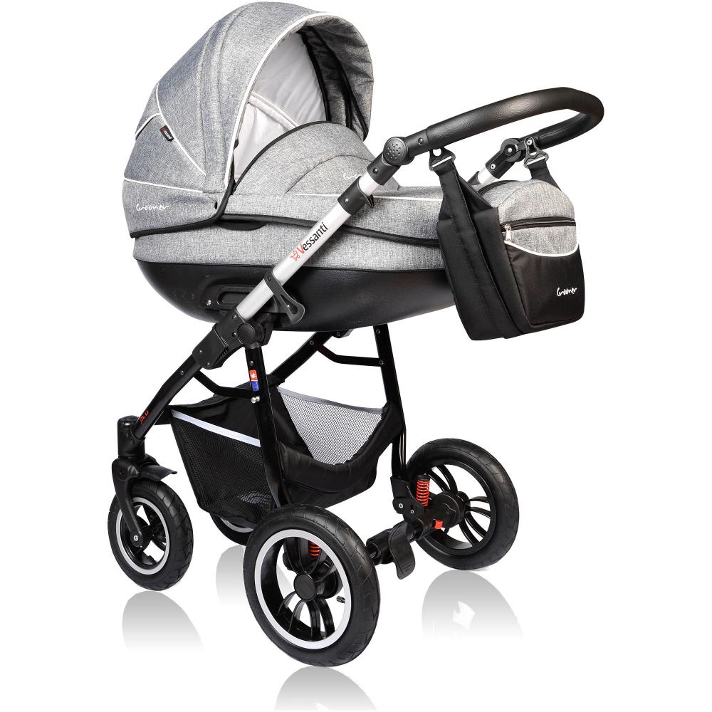 Carucior Crooner Prestige 3 in 1 Vessanti Gray