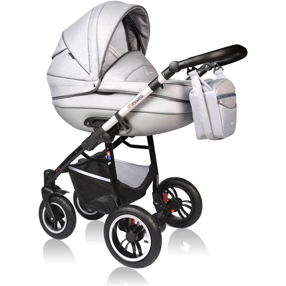Carucior Crooner Prestige 3 in 1 Vessanti Light Gray