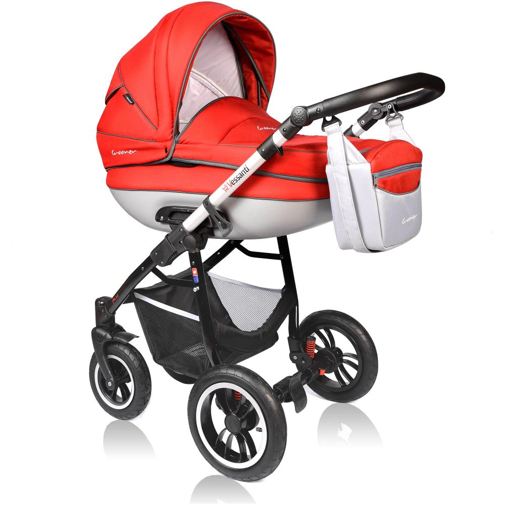Carucior Crooner Prestige 3 in 1 Vessanti Red