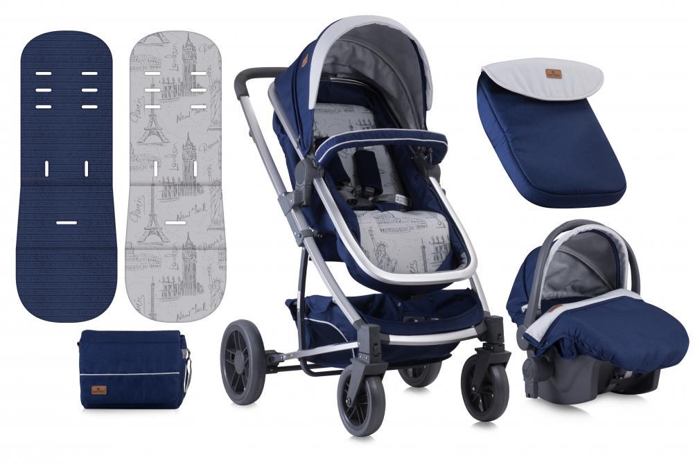 Carucior Set S-500 cos auto inclus Blue Travelling