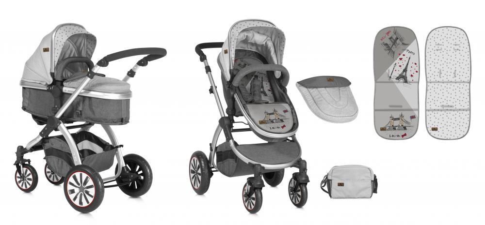 Carucior Sistem 2in1 Aurora Grey Travelling