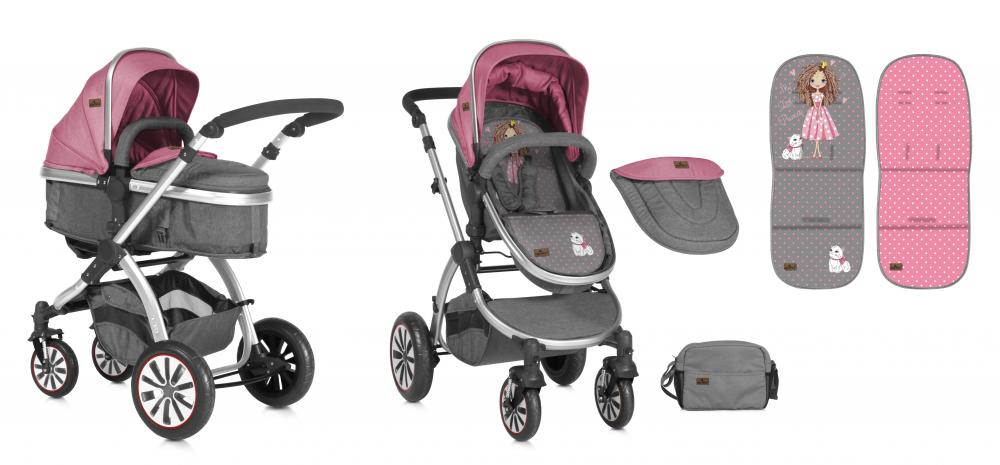 Carucior Sistem 2in1 Aurora Rose Grey Princess