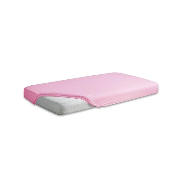 Cearceaf Premium din frotir cu elastic 140x70 cm Pink 10