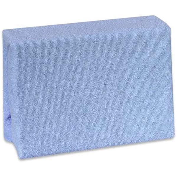 Cearceaf Premium din frotir cu elastic 140x70 cm Albastru inchis 25