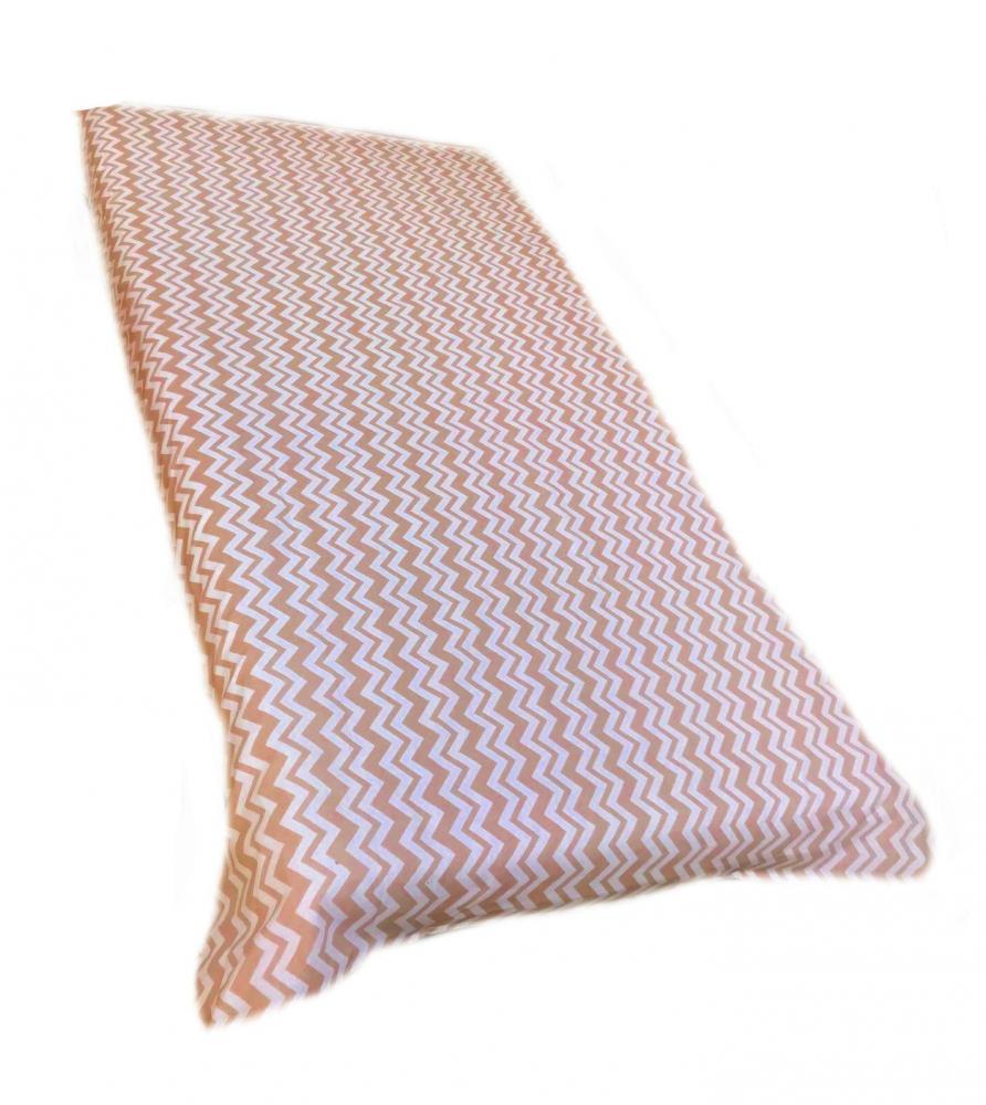 Cearsaf cu elastic roata 140x70 cm Zig-zag imagine