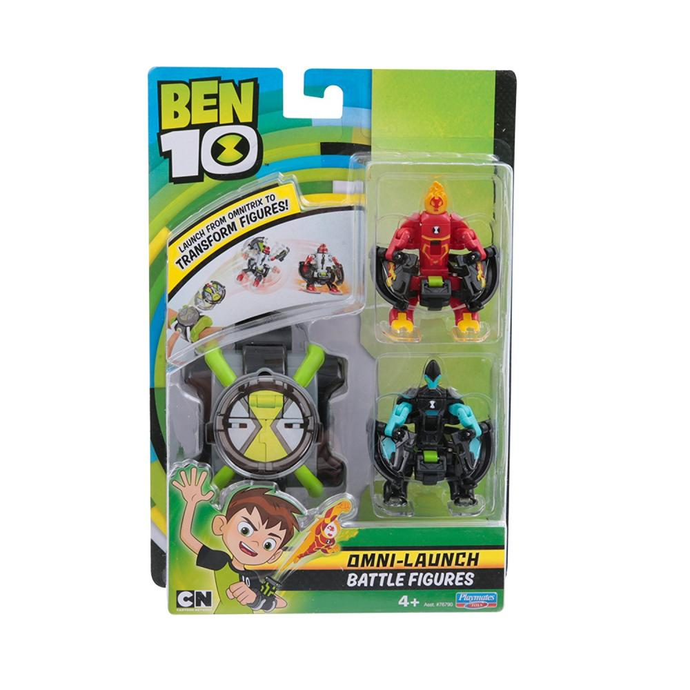 Ceas Omnitrix lansator si 2 figurine de lupta Torta Vie si XLR8