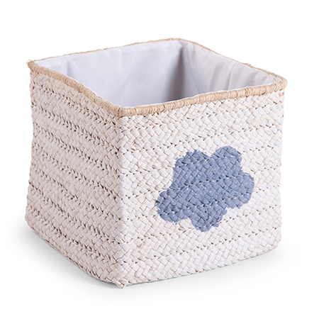 Cos de Jucarii Impletit 30x33x33 cm White Star Cloud