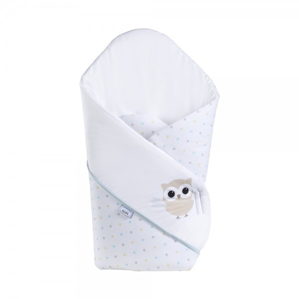 Patura de infasat bebelusi wrap Night birds blue H238 imagine