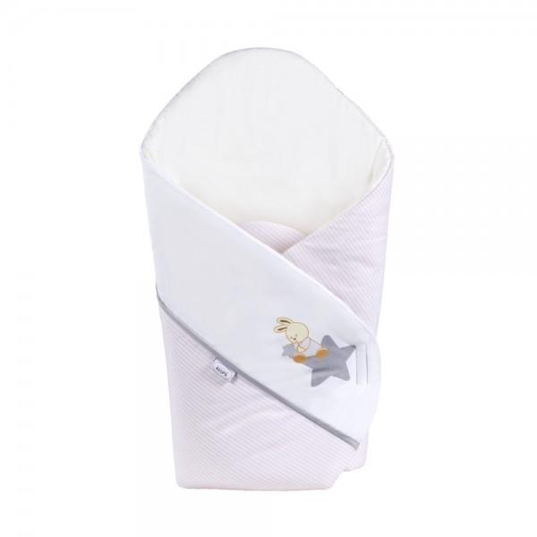 Patura De Infasat Bebelusi Wrap Star Journey Pink-white H207