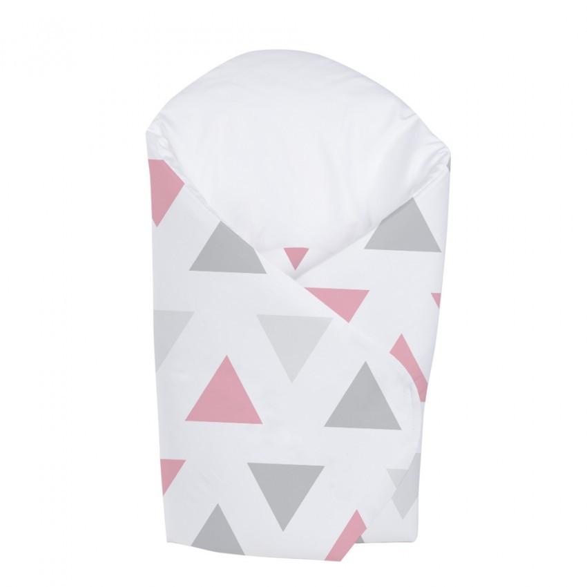 Patura De Infasat Bebelusi Wrap Triangles Pink K062