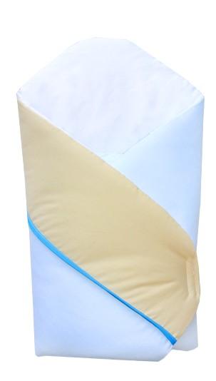 Patura de infasat bebelusi wrap Iepuras alb/blue K024