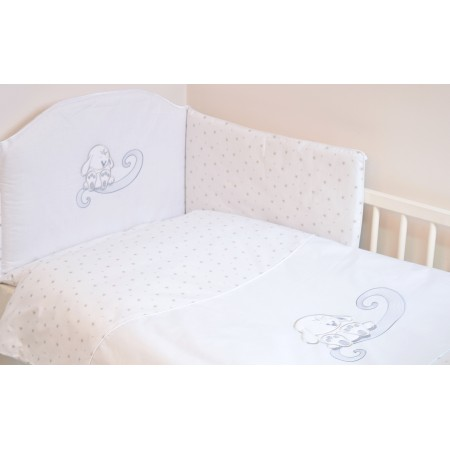 Lenjerie 3 piese cu broderie Bunny White