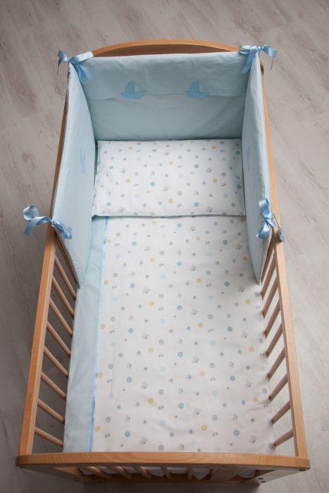 Lenjerie Patut Bebe 6 Piese Hana Albastru