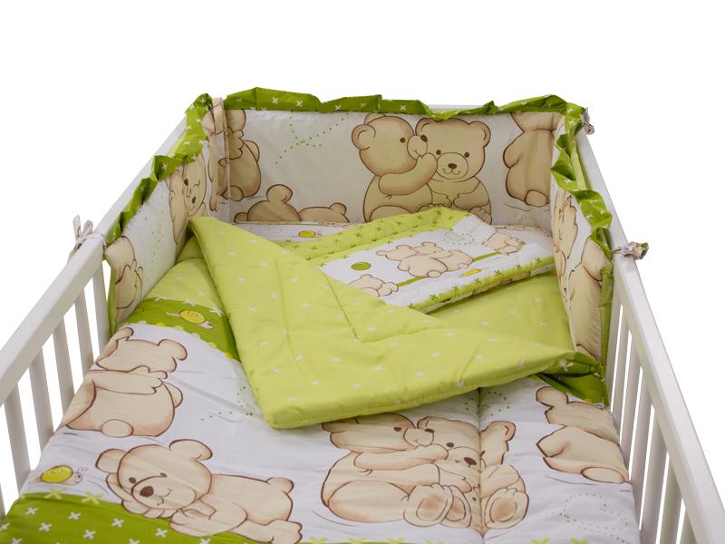Lenjerie Teddy Friends Verde 4 piese M1 140x70