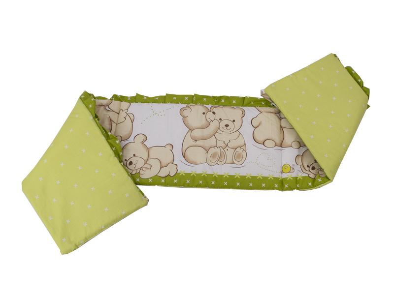 Lenjerie Teddy Friends Verde 5 piese M1 140x70 cm