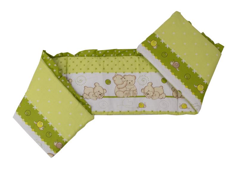 Lenjerie Teddy Friends Verde 5 piese M2 120x60 cm