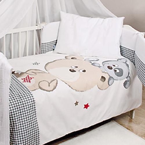 Lenjerie patut Baby Matex cu 3 piese Bianco Stars din categoria Camera copilului de la Baby Matex
