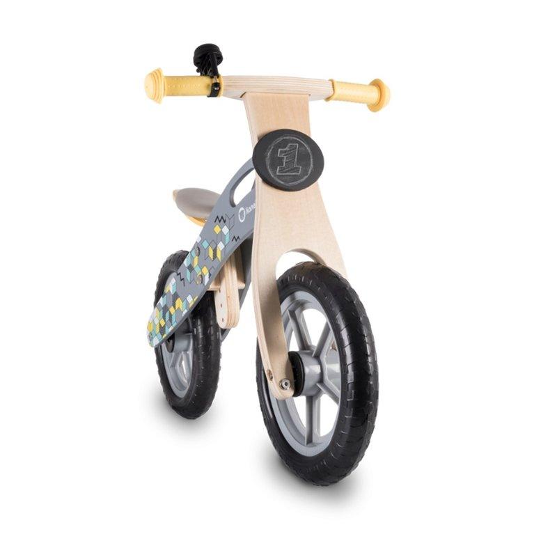 Bicicleta din lemn fara pedale Casper Grey