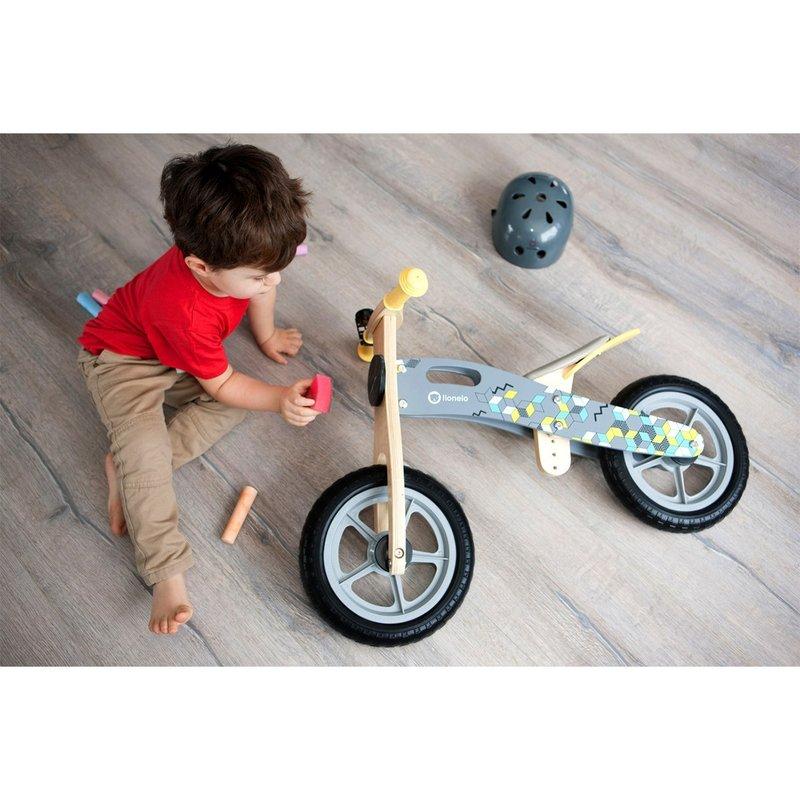 Lionelo Bicicleta din lemn fara pedale Casper Grey
