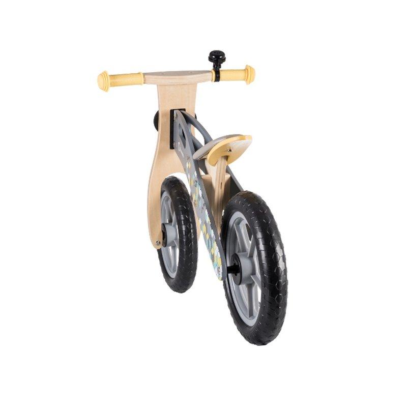 Bicicleta din lemn fara pedale Casper Pink