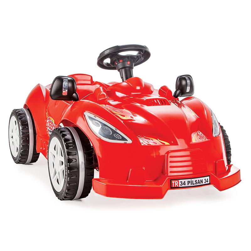 Masinuta cu pedale Speedy Car Red - 1