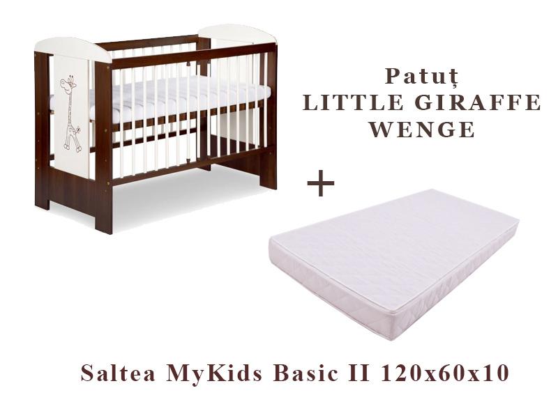 Patut Little Giraffe Wenge + Saltea 10 Basic Ii