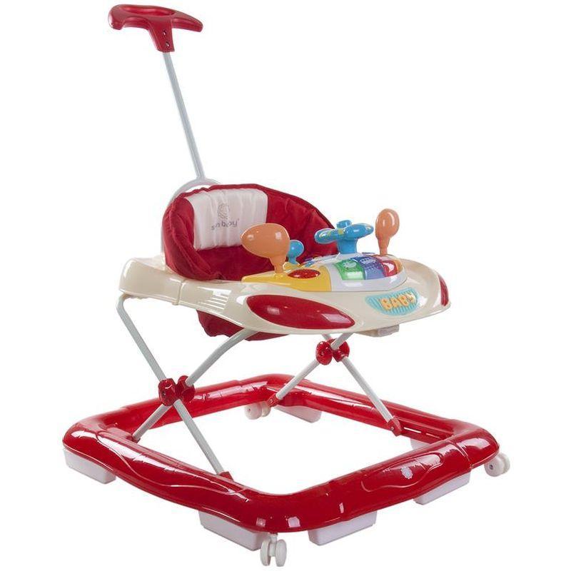 Premergator cu control parental Super Car Sun Baby Rosu cu Crem