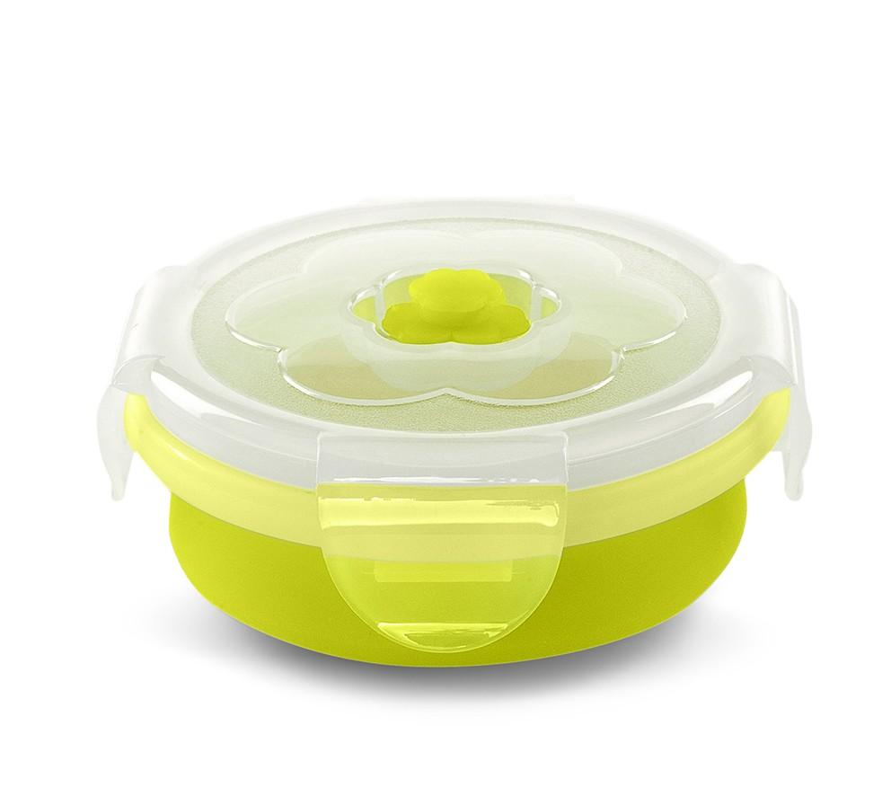 Recipient pliabil din silicon pentru hrana 540 ml 4468 verde