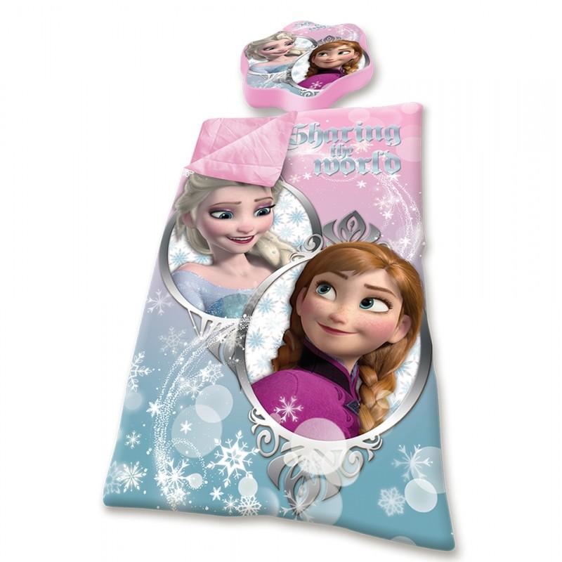 Sac de dormit cu perna Frozen roz din categoria Camera copilului de la DIVERSE