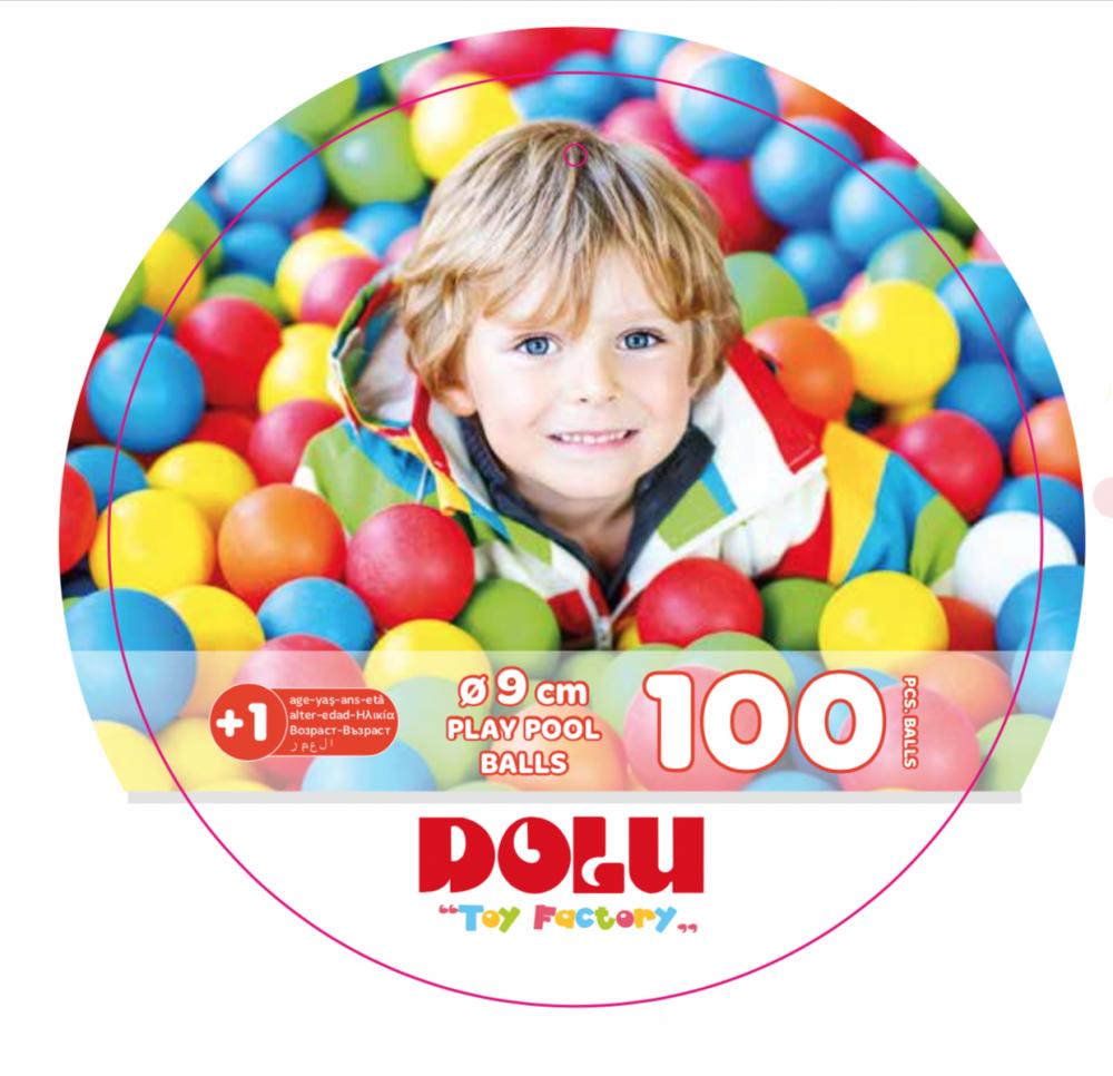 Set 100 bile colorate - 9 cm