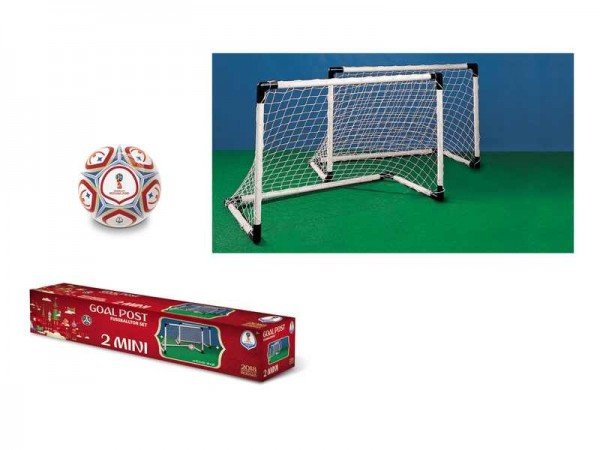 Set 2 mini porti de fotbal Mondo pentru copii Fifa World Cup 2018 imagine