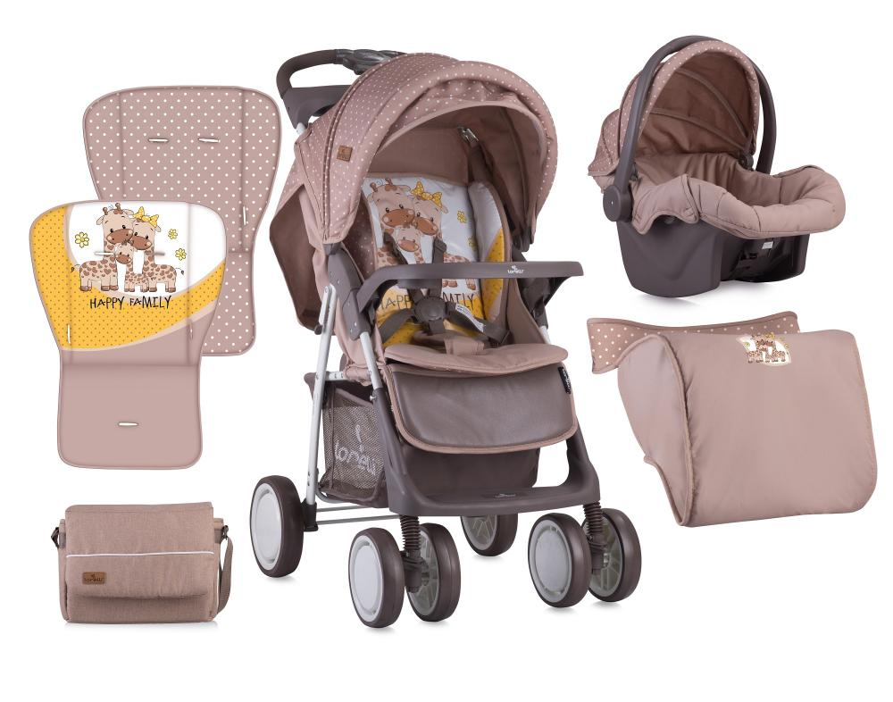Set Carucior 2 in 1 Foxy cos auto inclus Beige Yellow Family
