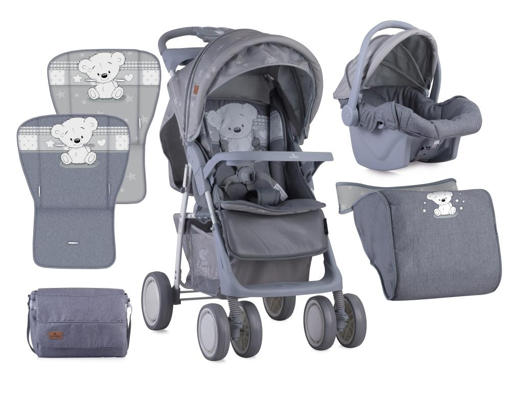Set Carucior 2 in 1 Foxy cos auto inclus Grey My Teddy