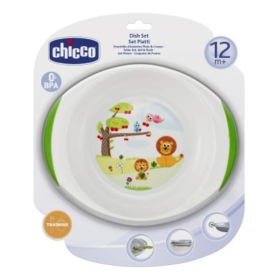 Set farfurie si castron Chicco 12luni+