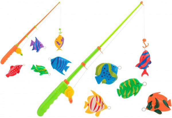Set pescuit cu undita si 5 pestisori Globo