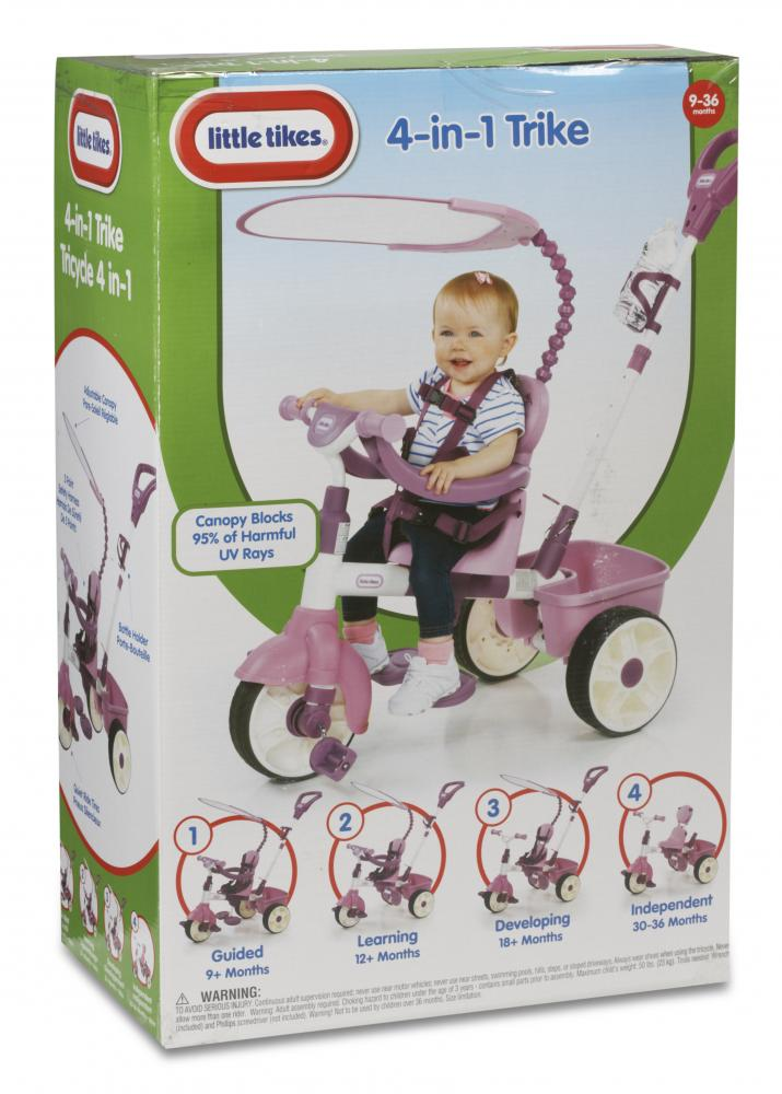 Tricicleta 4 in 1 roz Little Tikes