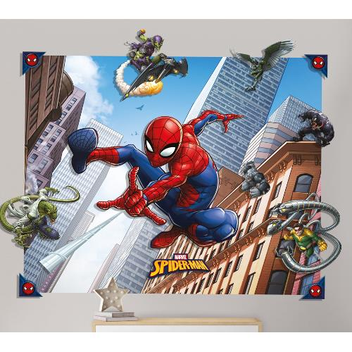 Tapet 3D pentru Copii Spiderman