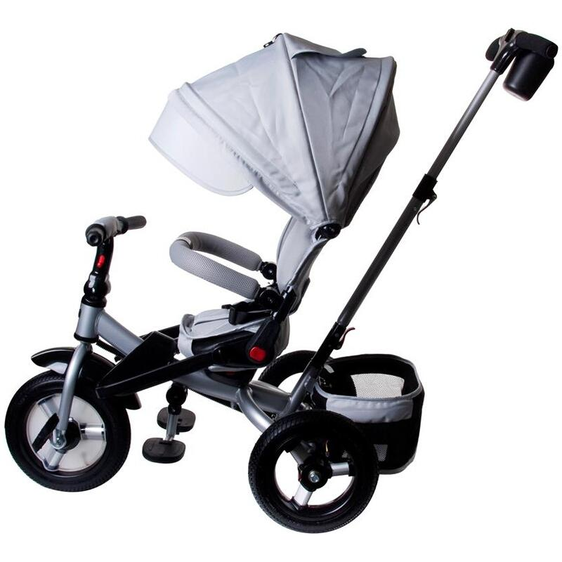 Tricicleta multifunctionala Little Tiger T400 gri